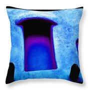 Blue Portals Throw Pillow