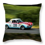 Blue Red And White Fiat Abarth Throw Pillow