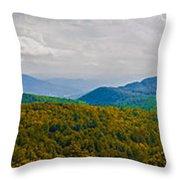 Blue Ridge Panorama Throw Pillow