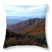 Blue Ridge Parkway Throw Pillow