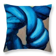 Blue Rope 2 Throw Pillow