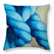 Blue Rope Throw Pillow