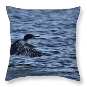 Blue Runway Throw Pillow