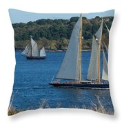 Blue Schooner 03 Throw Pillow