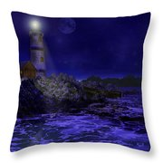 Blue Serenity Throw Pillow