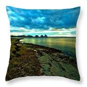 Blue Shores Throw Pillow