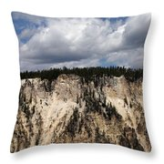 Blue Skies And Grand Canyon In Yellowstone Throw Pillow