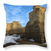 Blue Skies At Monument Rocks Throw Pillow