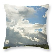 Blue Sky And Building Storm Clouds Fiane Art Print Throw Pillow