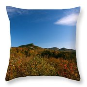Blue Sky And Thin Clouds Throw Pillow