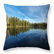 Blue Sky Art Throw Pillow