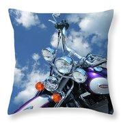 Blue Sky Harley Throw Pillow
