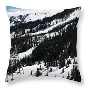 Blue Sky Miners Cabin Throw Pillow
