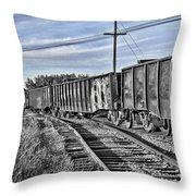 Blue Sky Train2 Throw Pillow