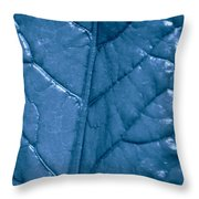 Blue Songs Throw Pillow