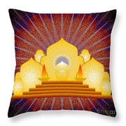 Blue Sun Temple 2012 Throw Pillow