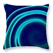Blue Swirls Throw Pillow