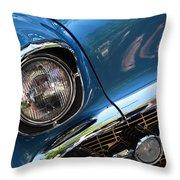 Blue Thunder - Classic Antique Car- Detail Throw Pillow