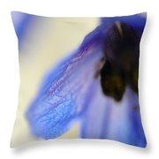 Blue Touch Throw Pillow