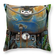 Blue Tractors Driver's Seat Throw Pillow