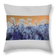 Blue Trees New Mexico Throw Pillow