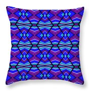 Blue Turquoise And Purple Throw Pillow