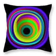 Blue Vortex Throw Pillow