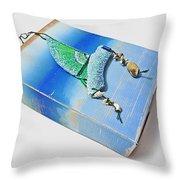 Blue Water Sailing Throw Pillow