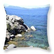 Blue Waters Of Lake Tahoe Throw Pillow