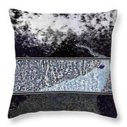 Blue Way Through Throw Pillow