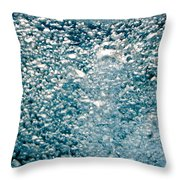 Blue White Water Bubbles In A Pool Throw Pillow