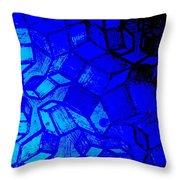 Blue Zinc Throw Pillow