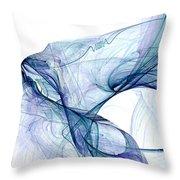 Blueangel Throw Pillow