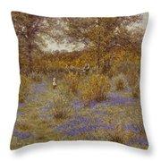 Bluebell Copse Throw Pillow