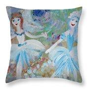 Blueberry Fairies Throw Pillow