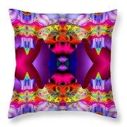 Blueberry Ice Throw Pillow by Robert Orinski