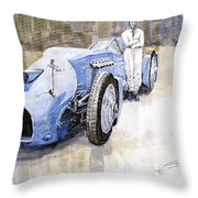 Bluebird 1933 Daytona Malkolm Campbell Throw Pillow