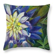 Bluebonnet Daze Throw Pillow