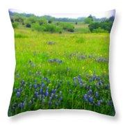 Bluebonnet Dreams Throw Pillow