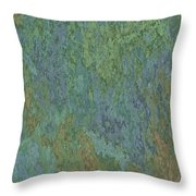 Bluegreen Stone Abstract Throw Pillow