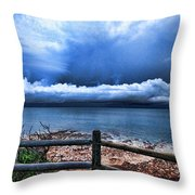 Bluer On The Other Side Throw Pillow