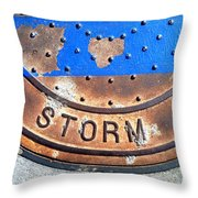 Bluer Sewer Two Throw Pillow