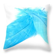 Blues Crossed Throw Pillow