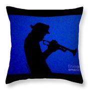 Blues Man Throw Pillow