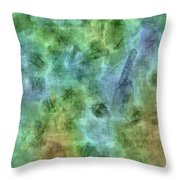 Bluetone Abstract Throw Pillow