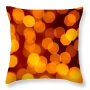 Blurred Christmas Lights Throw Pillow by Carlos Caetano