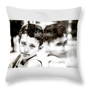 Blurred Thoughts Throw Pillow