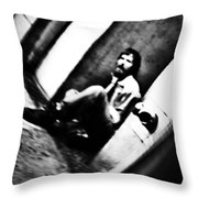 Blurred Time Throw Pillow