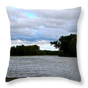 Blustery River  Throw Pillow