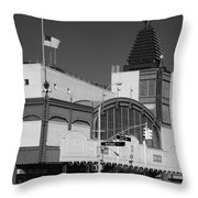 Bmt End Of The Line In Black And White Throw Pillow